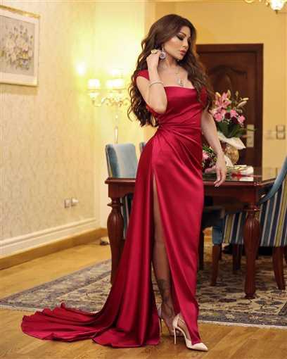 Image result for هيفاء وهبي بفستان أحمر مثير في عيد الحب