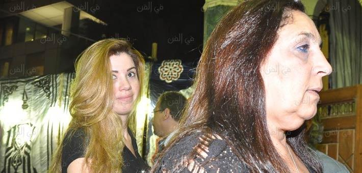 رانيا فريد شوقي في عزاء رأفت الميهي