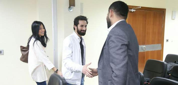 أحمد حاتم وخطيبته