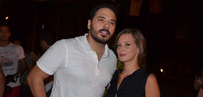 إيمان العاصي مع رامي عياش في كواليس