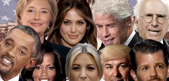 صورة للممثلين في دور السياسين المشاركين بالانتخابات الأمريكية