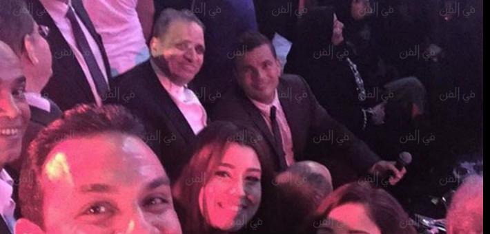 عمرو دياب والمنتج أحمد السبكي وأيتن عامر