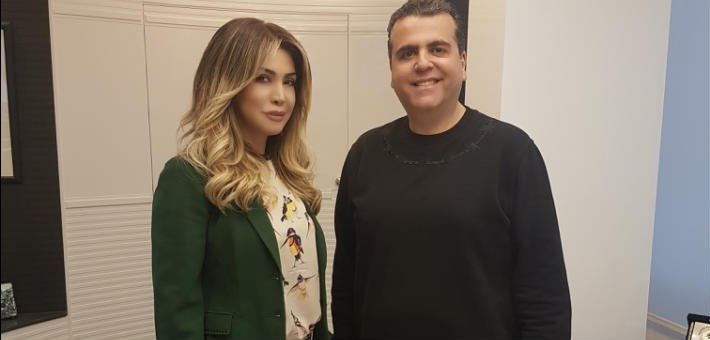 نوال الزغبي والمنتج جمال سنان