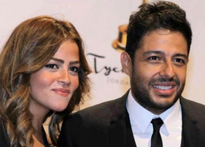 محمد حماقي وزوجته نهلة الحجري