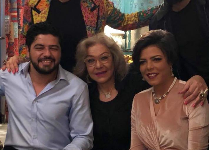 ناهد فريد شوقي مع ناهد السباعي وزوجها السابق