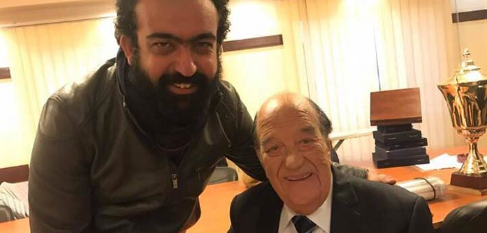 حسن حسني مع مخرج الفيلم  محمد العدل