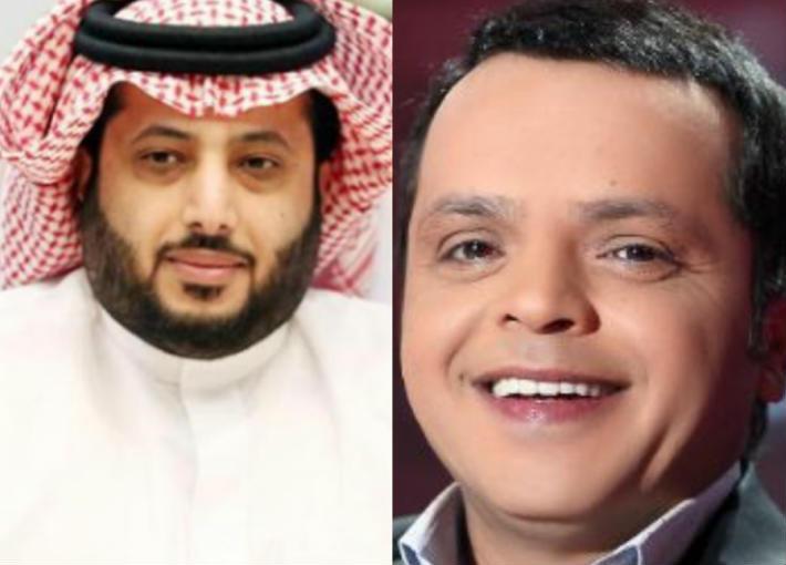 محمد هنيدي وتركي آل شيخ