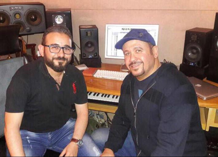 هشام عباس مع الموزع أحمد عادل