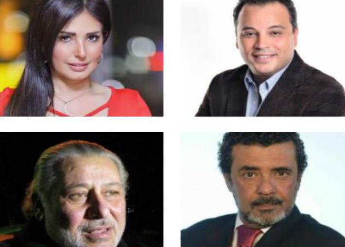 تامر عبد المنعم وأمل رزق وشريف خير الله ومحمد النجار
