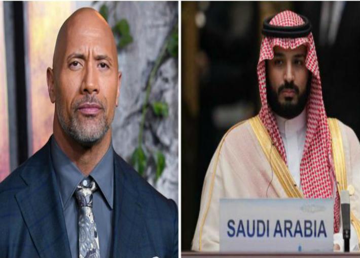 ولي العهد السعودي الأمير محمد بن سلمان ودواين جونسون