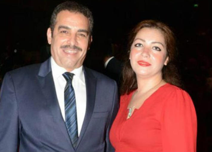 أحمد عبد العزيز وزوجته