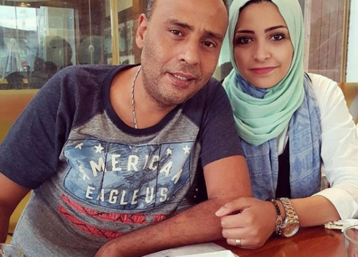 محمود عبد المغني وزوجته