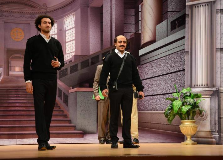 مشهد من العرض المسرحي الجديد