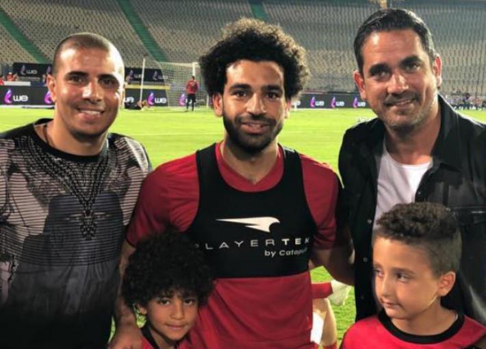 أمير كرارة مع محمد صلاح ومحمد زيدان