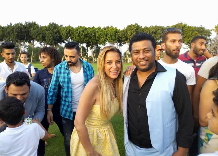 محمد جمعة يبتسم