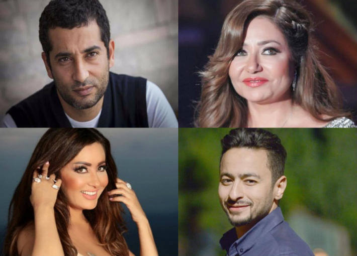 ليلى علوي وعمرو سعد ولطيفة وحمادة هلال