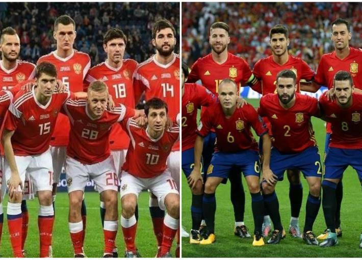 منتخب إسبانيا ومنتخب روسيا