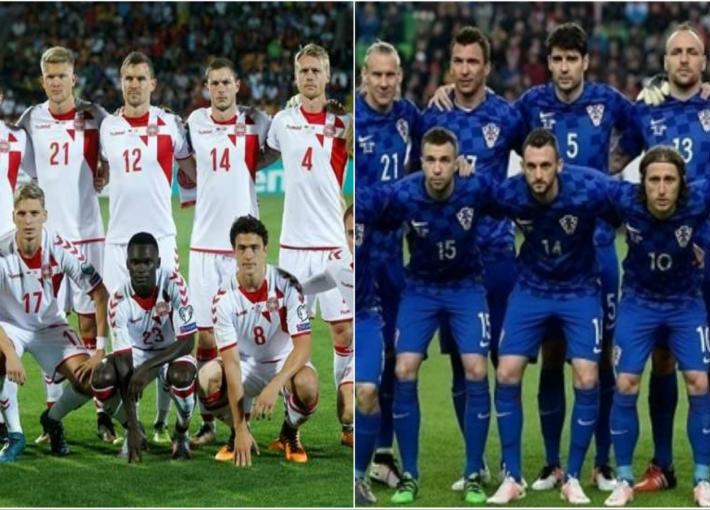 منتخب كرواتيا ومنتخب الدنمارك