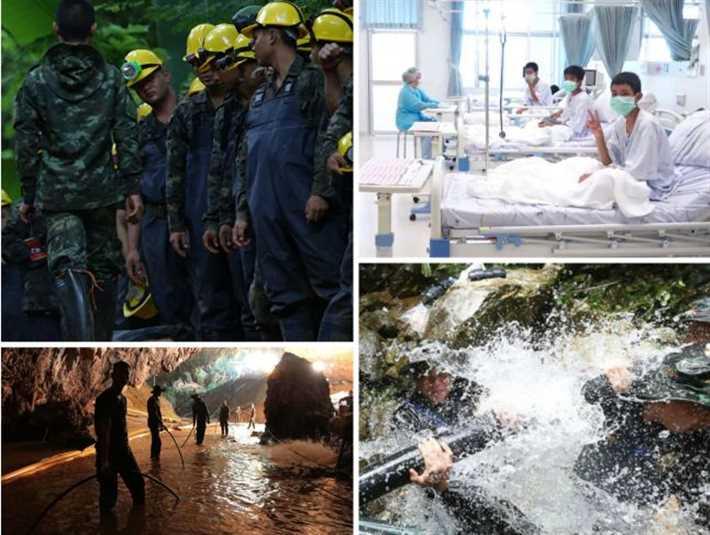 صور لعملية إنقاذ أطفال الكهف في تايلاند