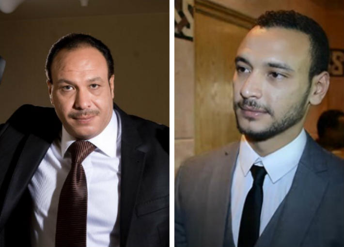 أحمد خالد صالح ووالده الراحل خالد صالح