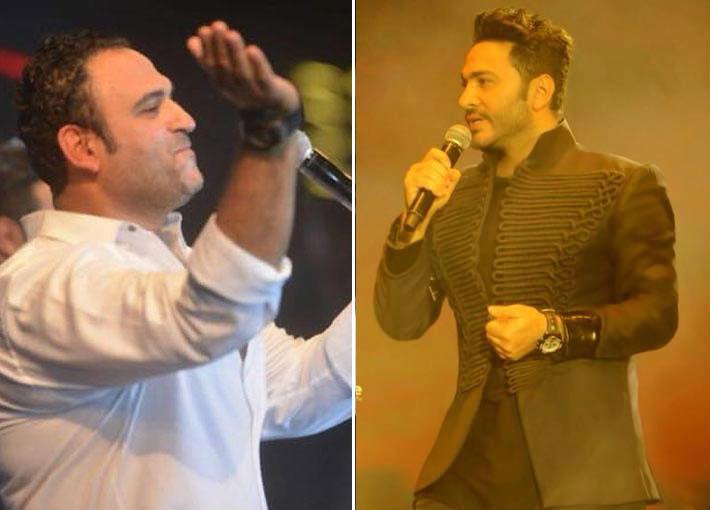 بالفيديو- أكرم حسني يغني