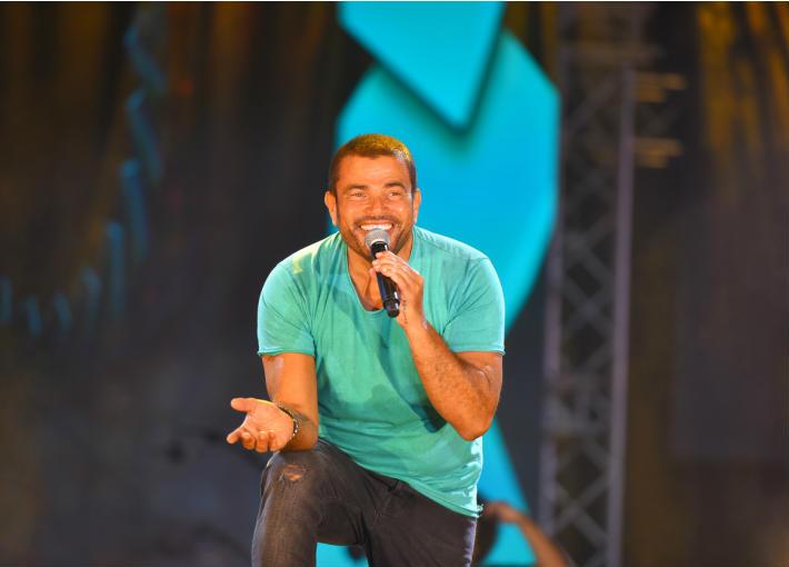 عمرو دياب في حفل بورتو مارينا