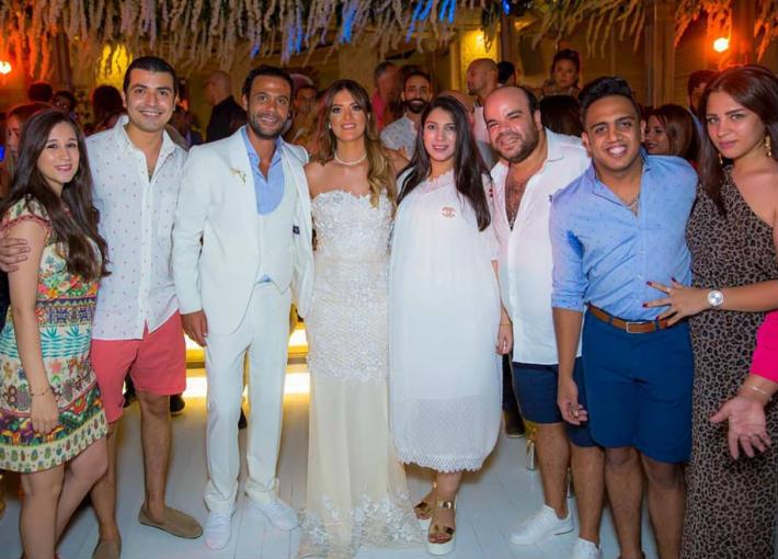 محمد أنور في حفل زفاف محمد إمام