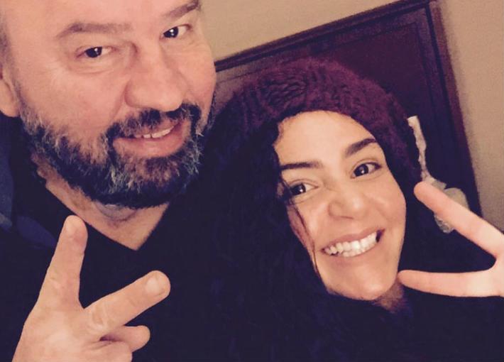 ركين سعد ووالدها