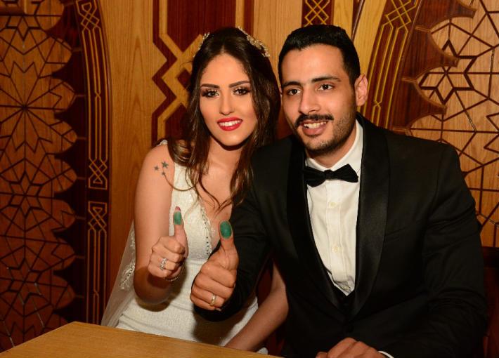 حامد الشراب وزوجته