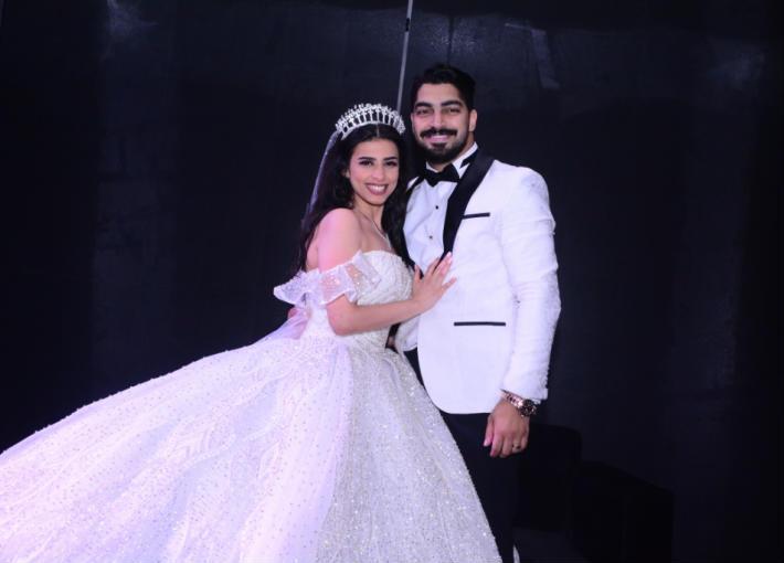 مينا عطا وعروسه