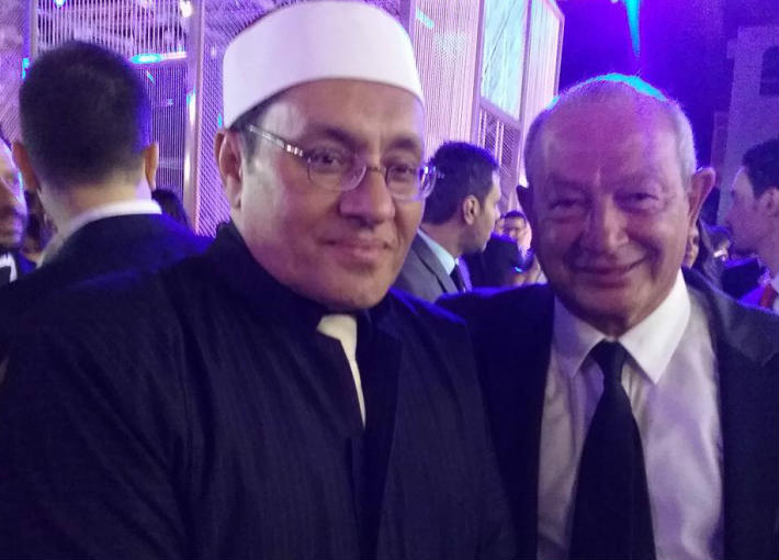 نجيب ساويرس ومصطفى راشد