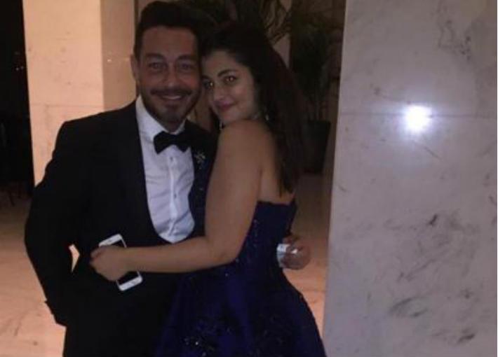 أحمد زاهر وابنته ليلى