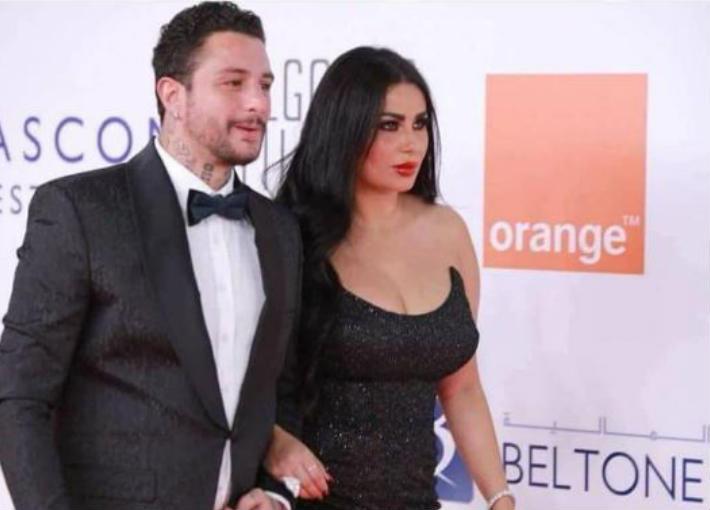 أحمد الفيشاوي وزوجته ندى كامل