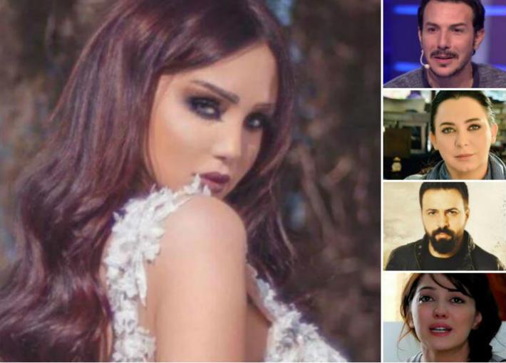 دينا هارون ومشاهير الفن السوري