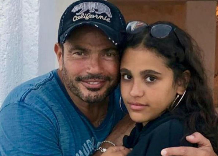 جانا ووالدها عمرو دياب