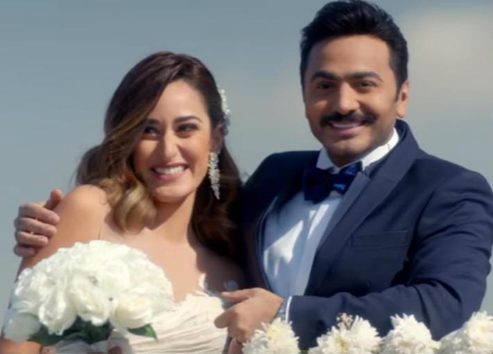 بالفيديو تامر حسني يطرح أغنية حلم سنين من فيلم البدلة