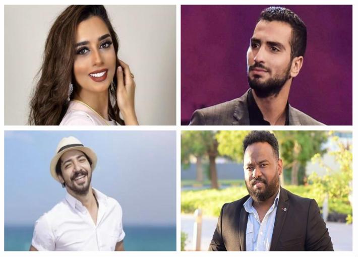 محمد الشرنوبي وبلقيس فتحي وعادل حسن ومحمد حمزة