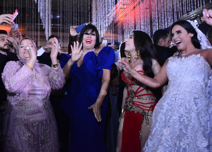 فيفي عبدة ودينا والعروس مريم خالد عجاج