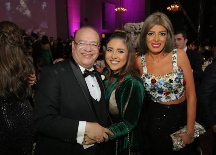 صلاح عبد الله في حفل زفاف ابنته