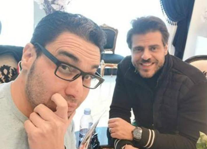 المخرج هاني حمدي والممثل طارق صبري