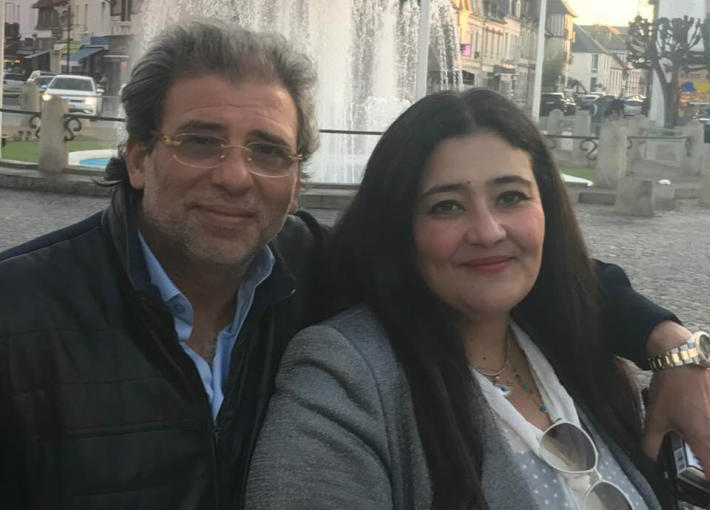 خالد يوسف وزوجته شاليمار الشربتلي