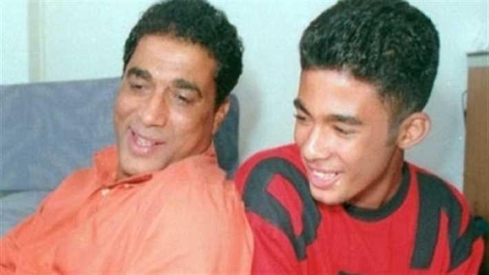هيثم مع والده الفنان أحمد زكي
