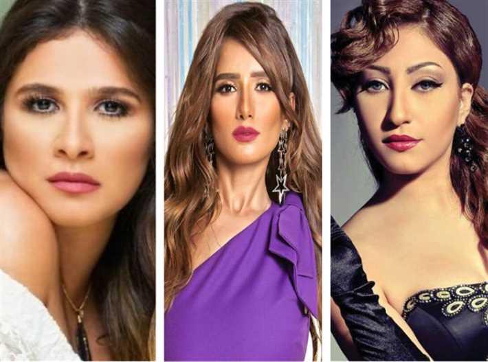 ياسمين عبد العزيز وزينة وبوسي