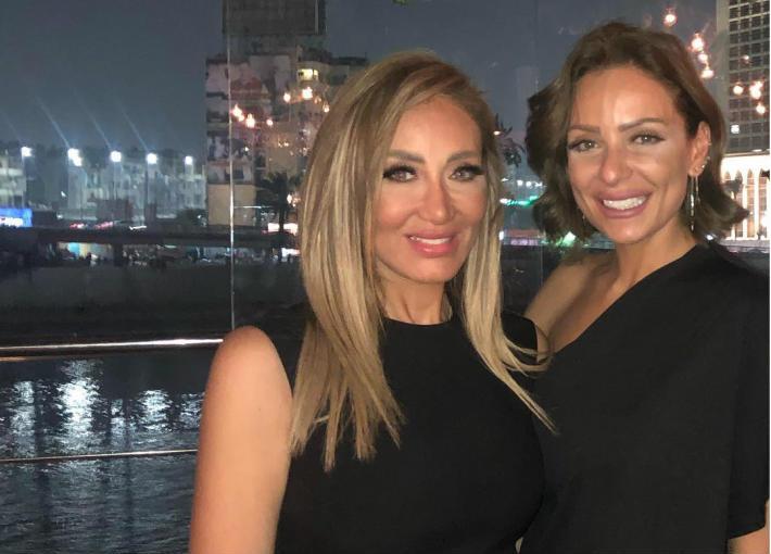 ريم البارودي في حفل عيد ميلاد ريهام سعيد