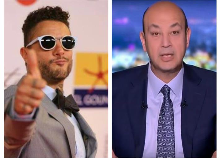 عمرو أديب وأحمد الفيشاوي