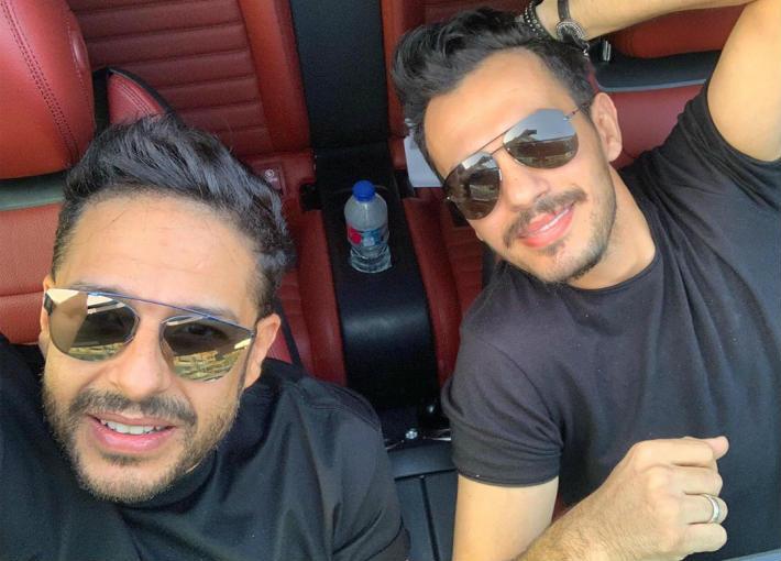 بالفيديو-حماقي وعمرو مصطفى وأحمد إبراهيم في كواليس تسجيل إعلان ممستشفى 500500   في الفن