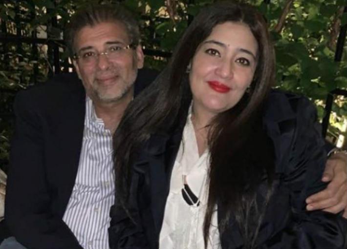 خالد يوسف وزوجته شاليمار