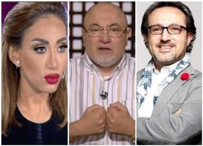 خالد الجندي يتوسط ريهام سعيد وشريف مدكور