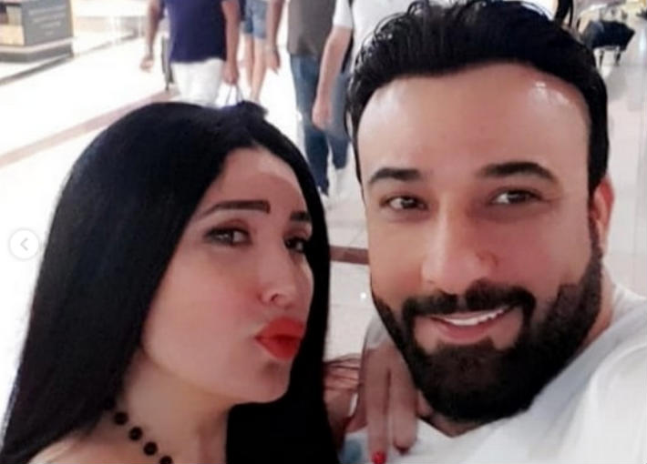 عبير صبري وزوجها أيمن البياع