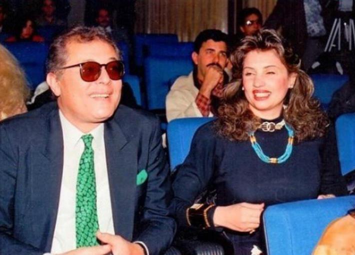 محمود عبد العزيز وزوجته جيلان